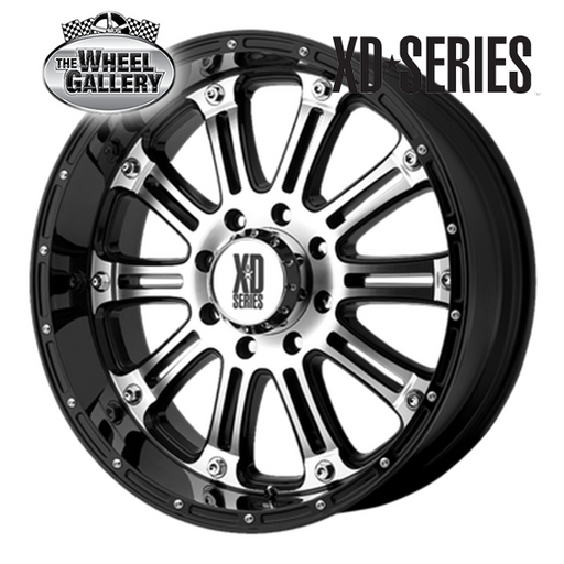 XD WHEELS XD795 HOSS GLOSS BLACK MACHINED 16x8 8/165.1  +0 WHEEL