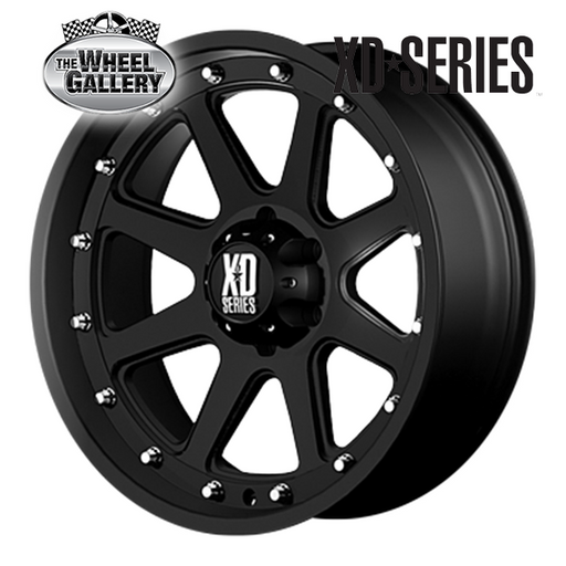 XD WHEELS XD798 ADDICT MATTE BLACK 17x9 6/139.7  +18 WHEEL