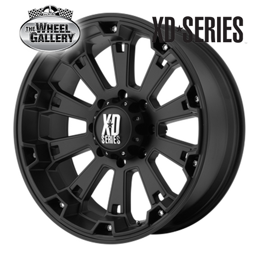 XD WHEELS XD800 MISFIT MATTE BLACK 20x9 6/139.7  +0 WHEEL
