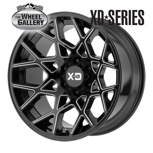 XD WHEELS XD831 CHOPSTIX GLOSS BLACK MILLED 20x10 6/139.7  +24 WHEEL