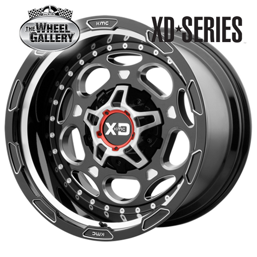 XD WHEELS XD837 DEMODOG GLOSS BLACK MILLED 20x9 6/135  +0 WHEEL