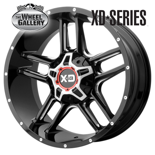 XD WHEELS XD839 CLAMP GLOSS BLACK MILLED 20x9 6/135  +0 WHEEL
