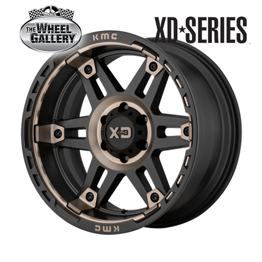 XD WHEELS XD840 SPY II SATIN BLACK DARK TINT 17x8 6/139.7  +18 WHEEL