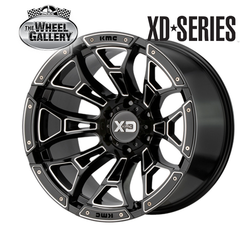 XD WHEELS XD841 BONEYARD GLOSS BLACK MILLED 18x10 6/139.7  +18 WHEEL