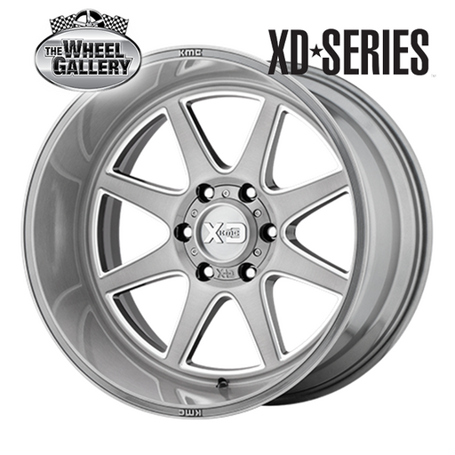 XD WHEELS XD844 PIKE TITANIUM BRUSHED MILLED 20x9 6/139.7  +0 WHEEL