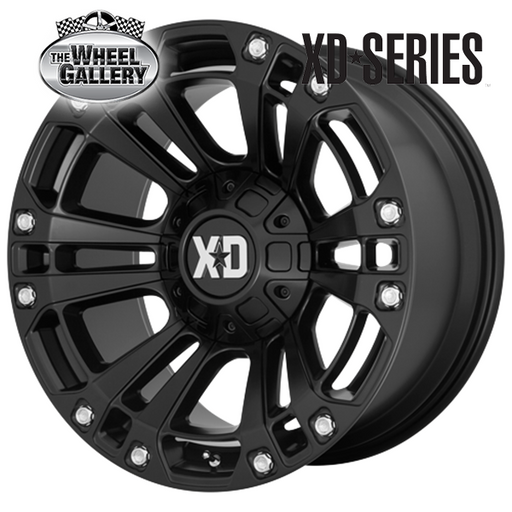 XD WHEELS XD851 MONSTER 3 SATIN BLACK 20x9 6/135  +18 WHEEL