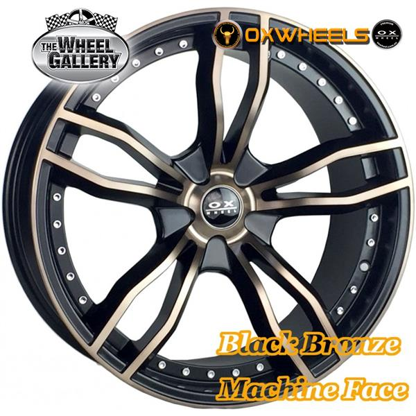 OXWHEELS OX690 BLACK/MACHINED FACE BROWN CLEAR COAT 20x9.5  +25 WHEEL