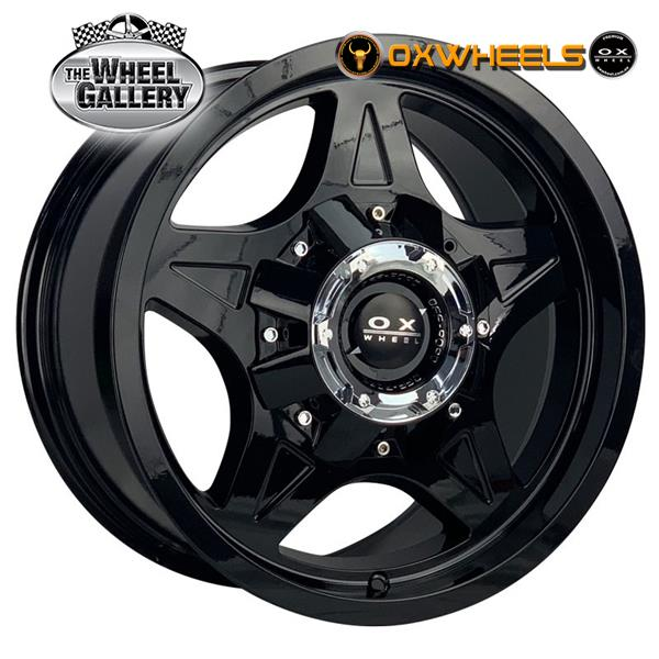 OXWHEELS OX336 GLOSS BLACK 17x9  +20 WHEEL