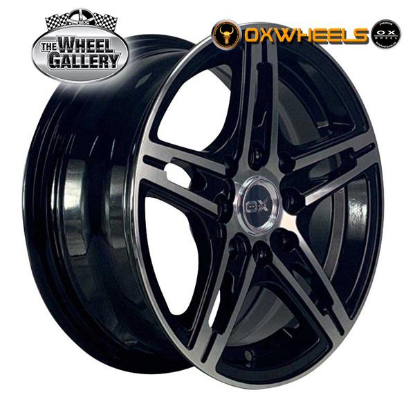 OXWHEELS OX3970 BLACK MACHINED FACE 13x5.5  +35 WHEEL