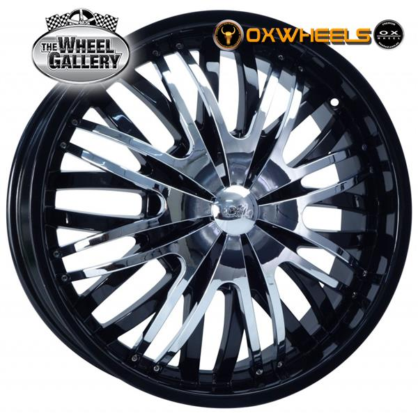 OXWHEELS OX628 BLACK 22x9  +30 WHEEL