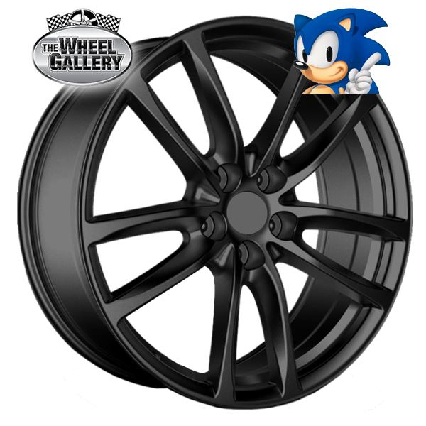 SONIC SUPER GLOSS BLACK 20x8 5/120  +42 WHEEL