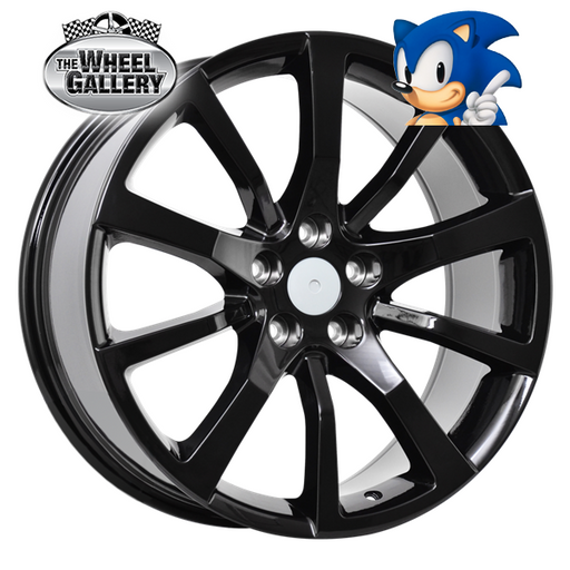 SONIC SV WHEELS GLOSS BLACK 20x8.5 5/120  +36 WHEEL