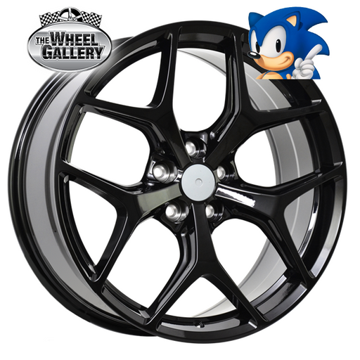 SONIC VF GSR GLOSS BLACK 20x8.5 5/120  +36 WHEEL