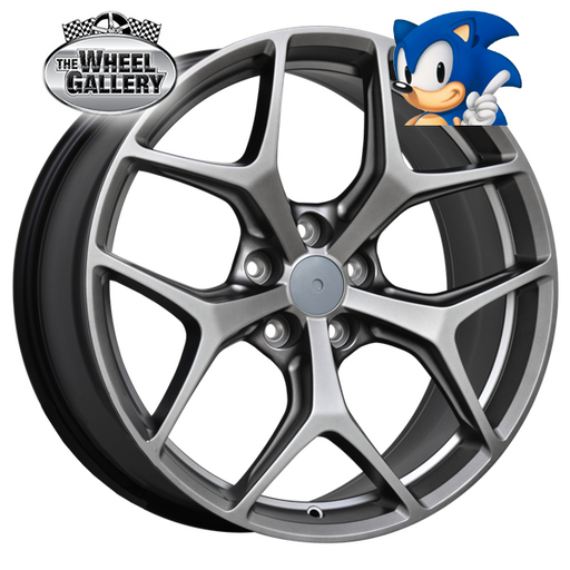 SONIC VF GSR SHADOW CHROME 20x8.5 5/120  +36 WHEEL