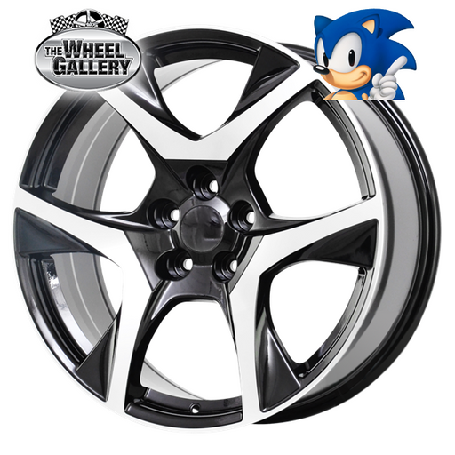 SONIC VF R8 MACHINE BLACK 20x8.5 5/120  +36/42 WHEEL
