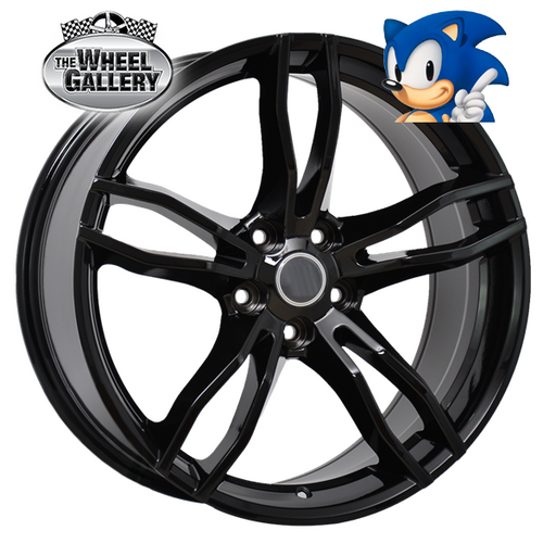 SONIC VF RAPIER GLOSS BLACK 20x8.5 5/120  +36 WHEEL
