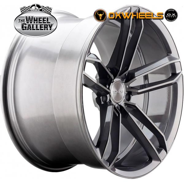OXWHEELS VD07 TITATIUM BRUSH FACE 20x8.5  +20 WHEEL