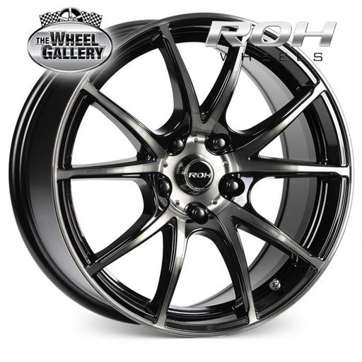 ROH SPRINTR GLOSS BLACK MACHINED FACE 17x7.5 5/100  +38 WHEEL