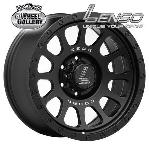 LENSO ZEUS 03 MATT BLACK 18x9 6/139.7  +10 WHEEL