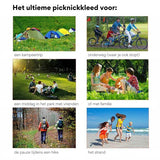 Compact Picknickkleed in Rood Hoesje