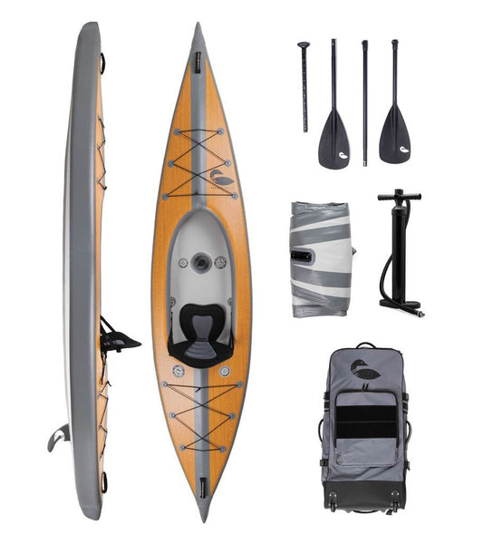 Paddle North Karve Inflatable Air Filled Kayak Premium Endeavor Minnesota Pass Outfitters