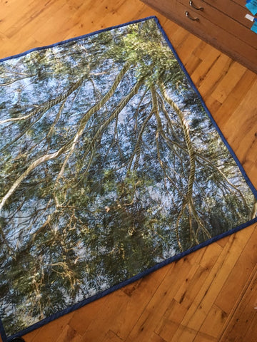 Turn to the Sky (Custom Photographic Site Specific Picnic Blanket Quilt)