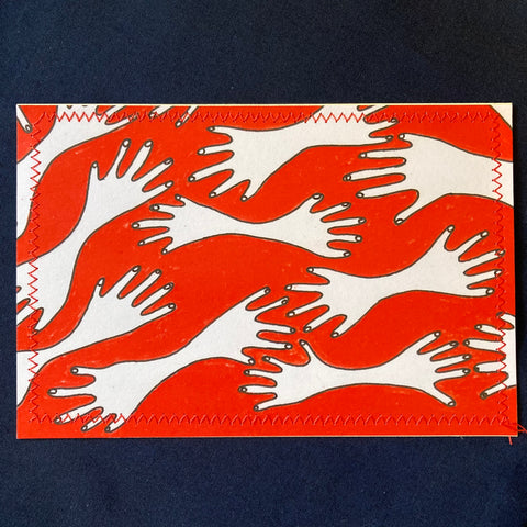 Surreal Hands Postcard