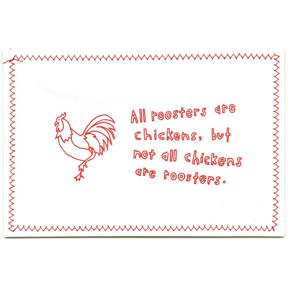 All Chickens Are Roosters Postcard
