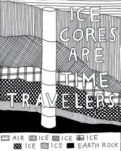 Ice Cores Are Time Travelers (Archival Print)