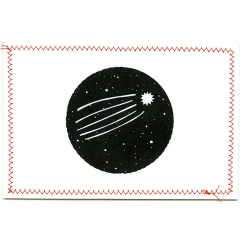 Shooting Star Postcard (circle)
