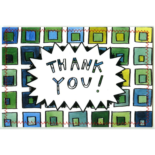 Thank You Postcard (Green Albers)