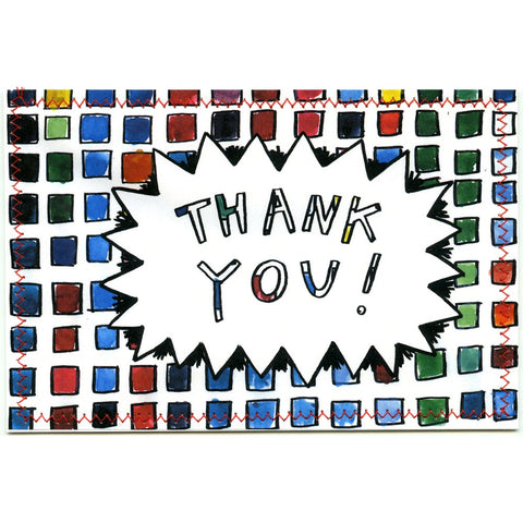 Thank You Postcard (Little Squares)