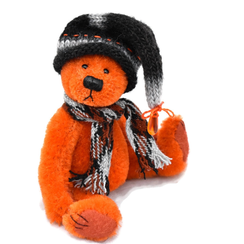 Orange hand dyed teddy bear