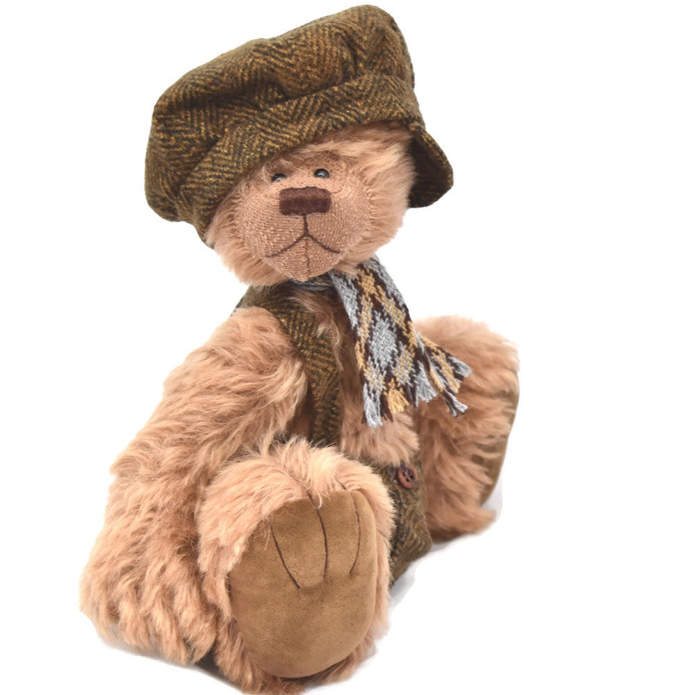 Light brown mohair teddy bear