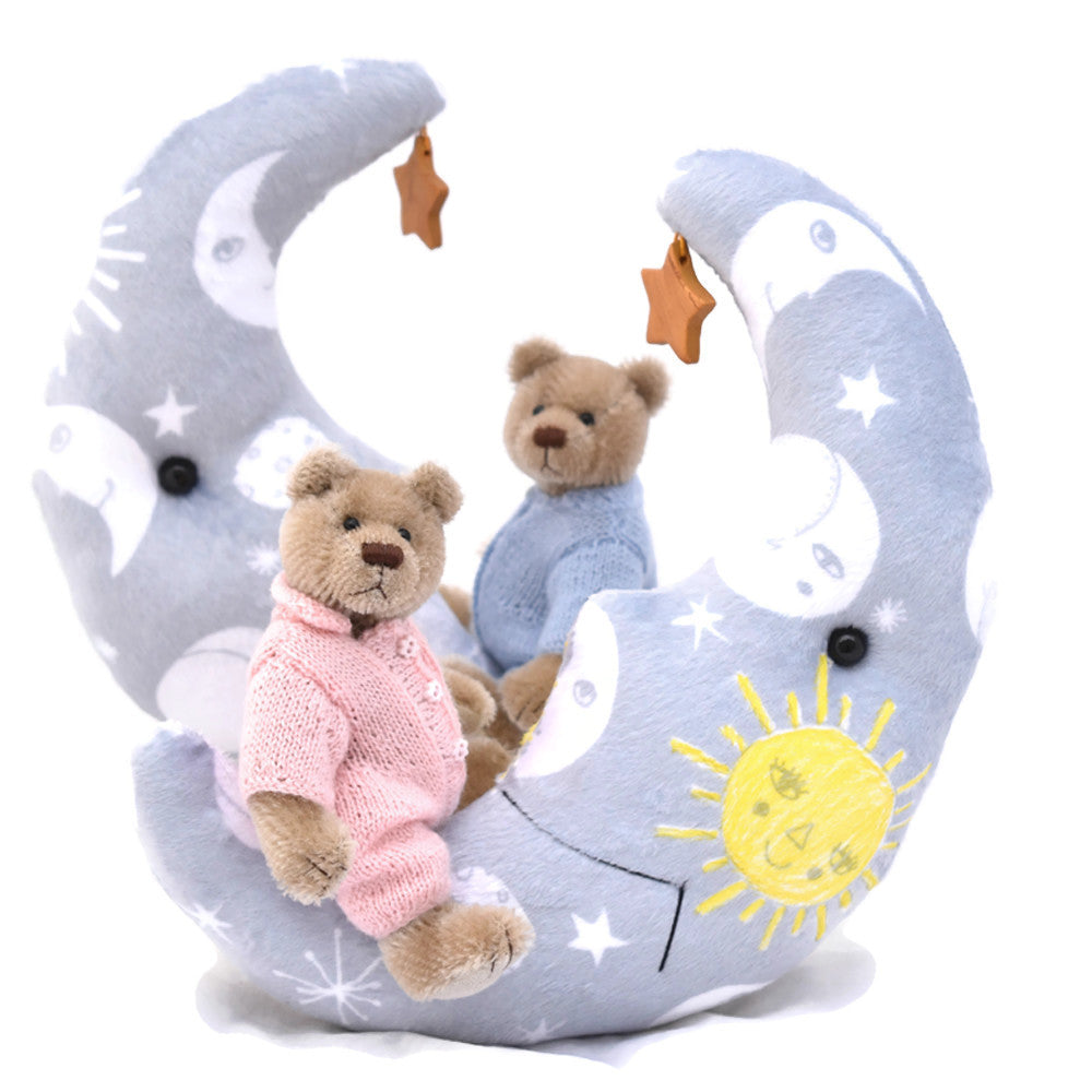 Mini teddy bear wish upon a star blue and pink