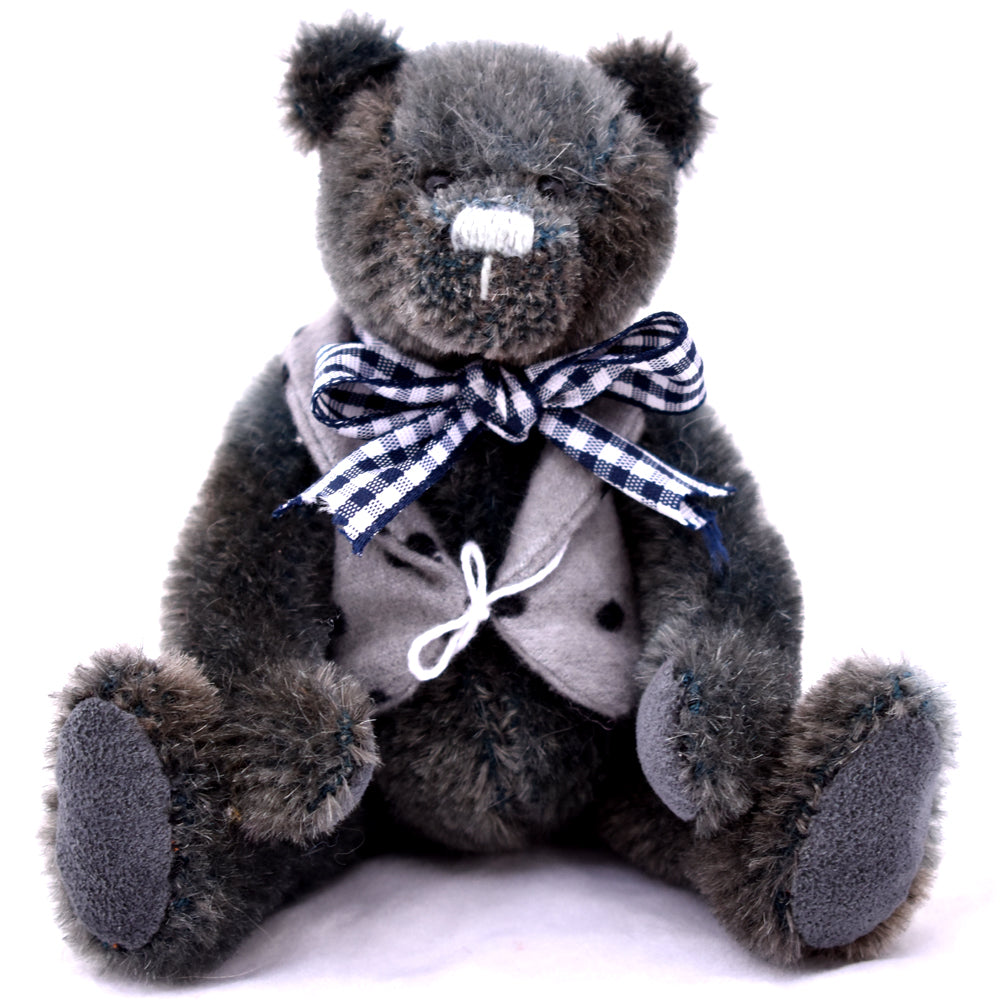 Sreiff Schulte Grey mohair teddy bear sitting