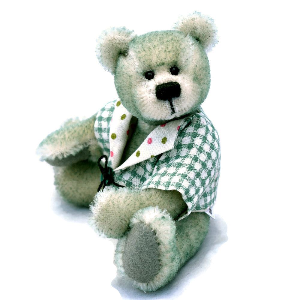 Tipped green mohair miniature teddy