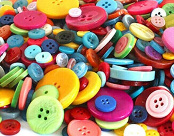 Assorted Buttons Mixed Colors Craft Supply Bulk Lot Set 50 pcs