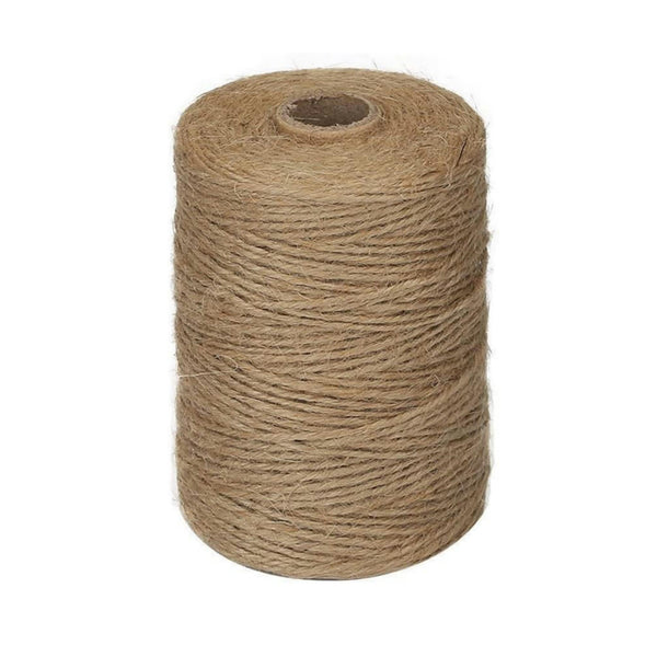 Jute Twine Bulk 1 Spool 2mm x 100ft 3 Ply Craft Supply Natural Jute