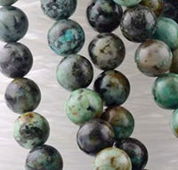 African Turquoise Beads Natural Genuine Stone Bulk Lot 6mm Loose Bulk Lot 20 pc Set