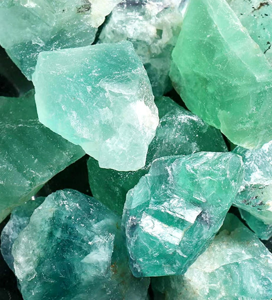 Green Flourite Natural Untreated Genuine Raw Rough Crystal LARGE about 1.5 inch 1 pc