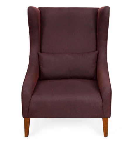 Newington Wing Chair in Rust Color by @Home