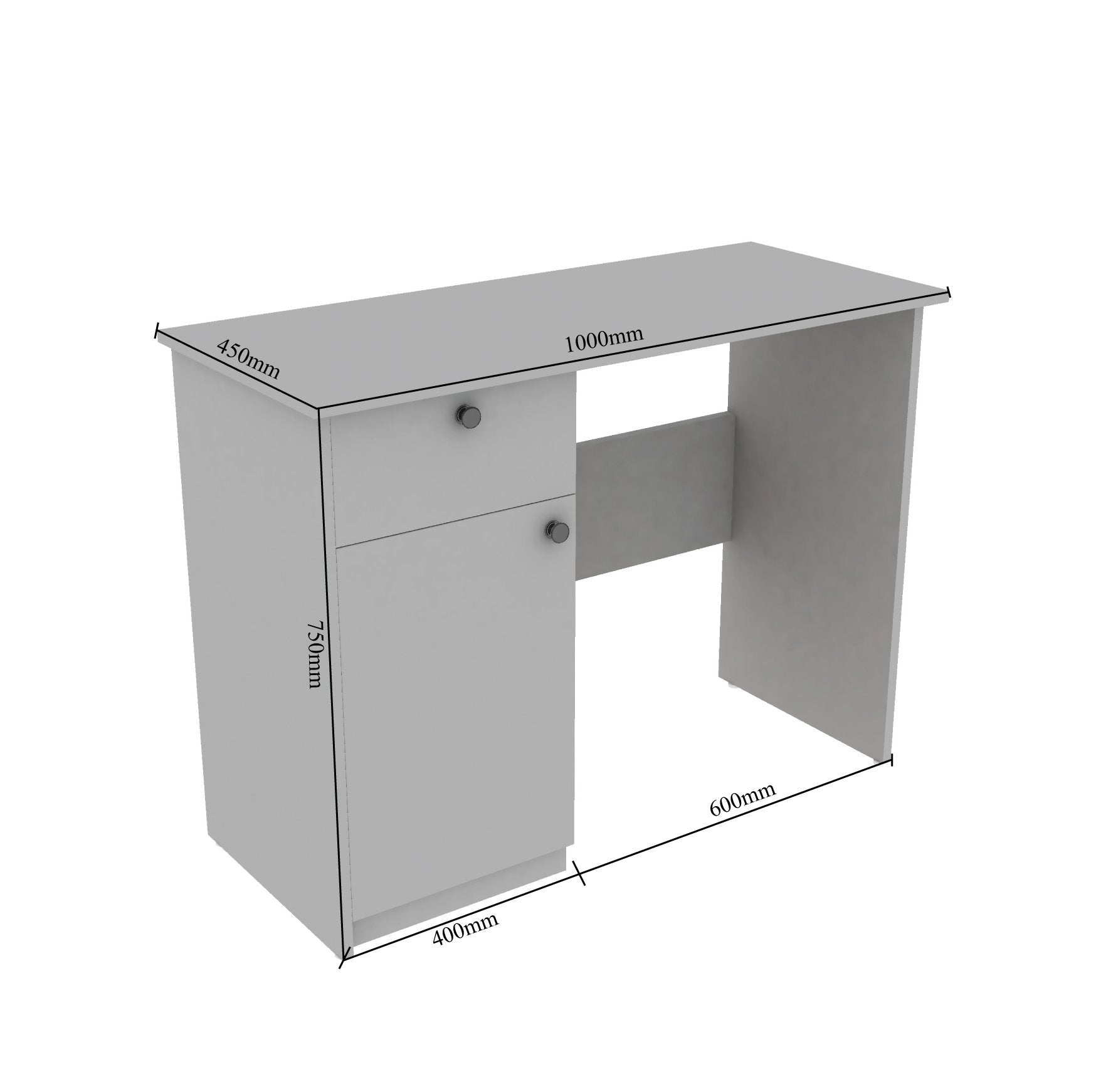 Rollex Study Table in White Colour by Value Box