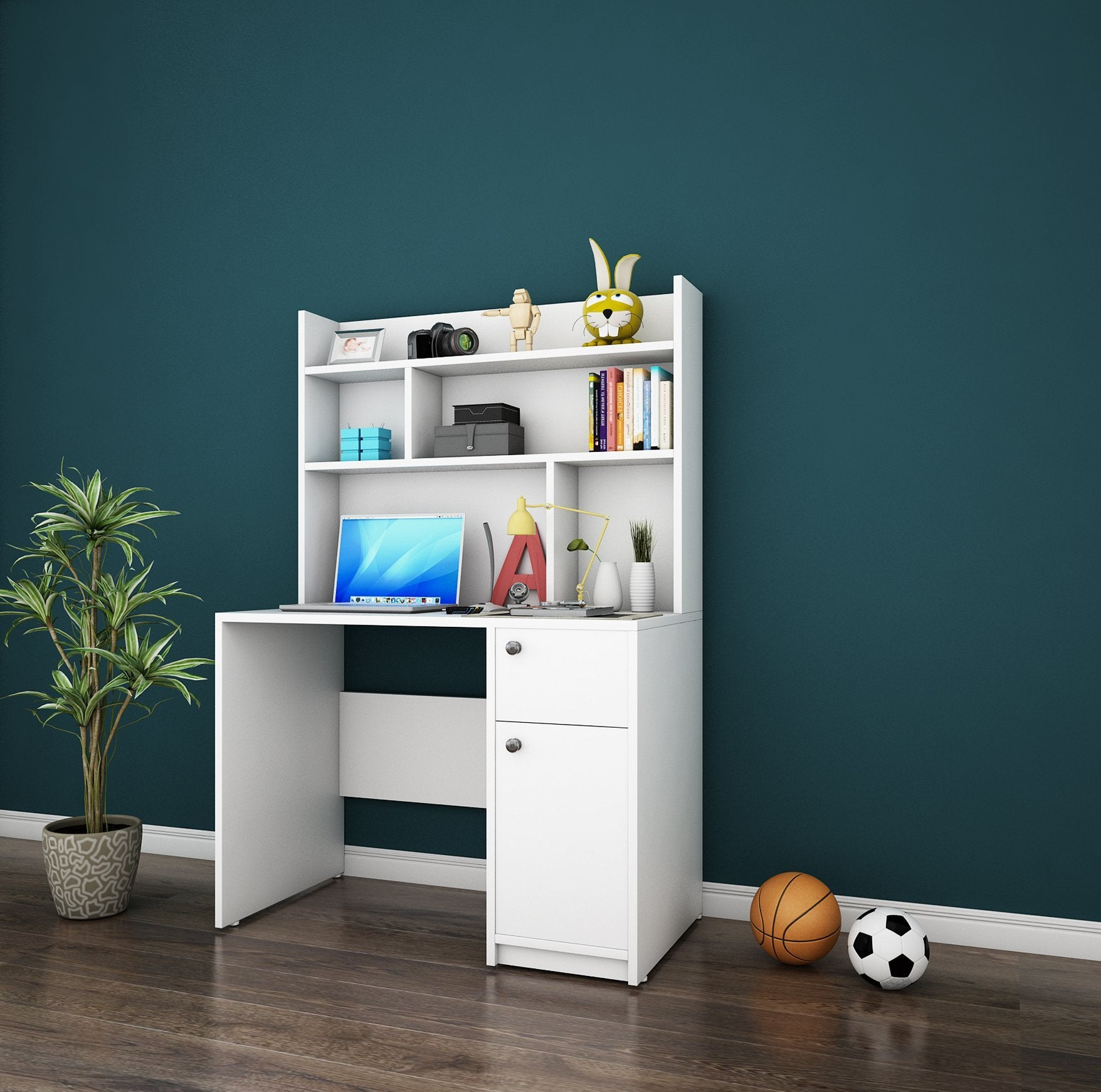 Starbuzz Study Table in White Colour by Dream Box