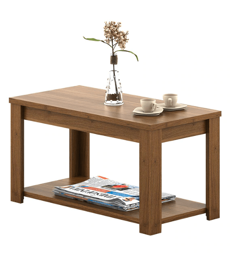 Kosmo Harmony Coffee Table in Natural Teak Finish by Spacewood