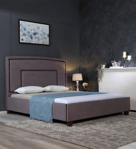 Eduardo Upholstered Storage King Size Bed in Brown Colour by CasaCraft