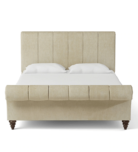 Perfect King Size Upholstered Bed in Beige Colour by Dreamzz Furniture