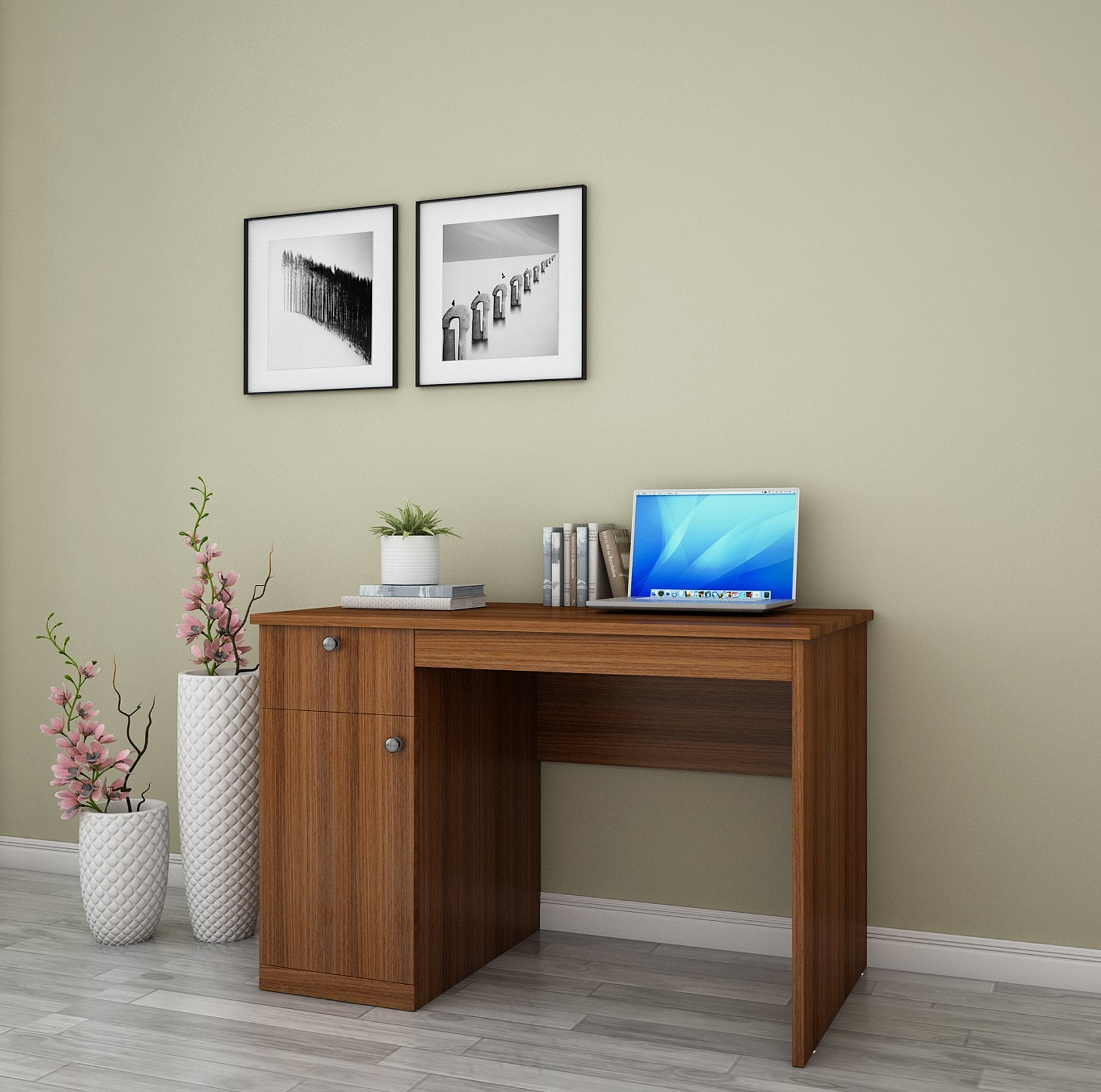 Classic Study Table in Walnut Colour by Dream Box