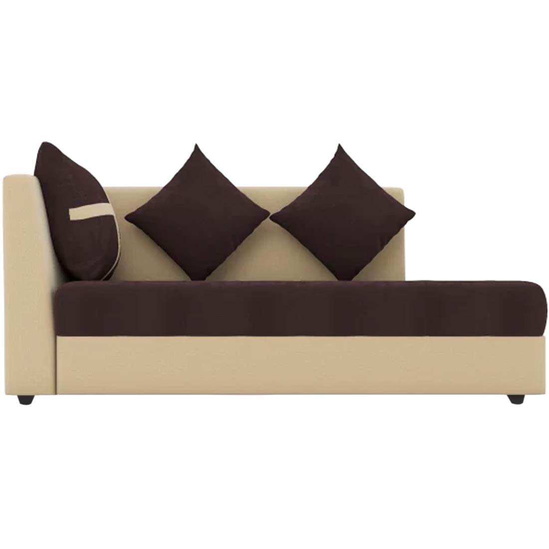 CasaStyle - Arnel 6 Seater L Shape Sofa Set for Living Room RHS (Brown-Cream) Soft Plush Sofa Seating with Strong Back and Thigh Support of Sofa Set