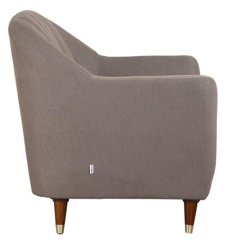 Delfina 1 Seater Sofa in Sandy Brown Colour by CasaCraft